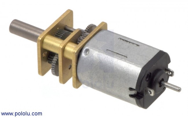30:1 Micro Metal Gearmotor with Extended Motor Shaft POLOLU-2202 Pololu Australia - Express Delivery Australia Wide (Image 1)