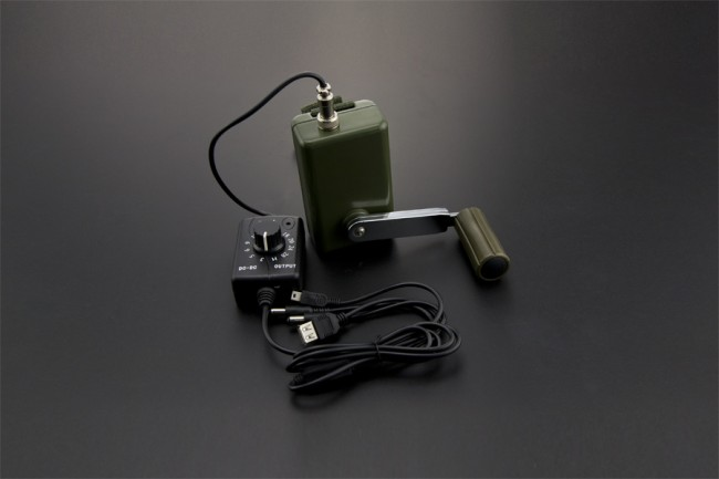 Portable Hand Crank Power Generator with Voltage Regulator DFR0368 DFRobot Australia - Express Post Australia Wide (Image 2)