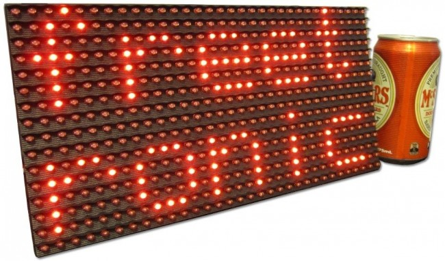Freetronics DMD: Dot Matrix Display 32x16 Red CE04485 Freetronics Australia (Image 1)