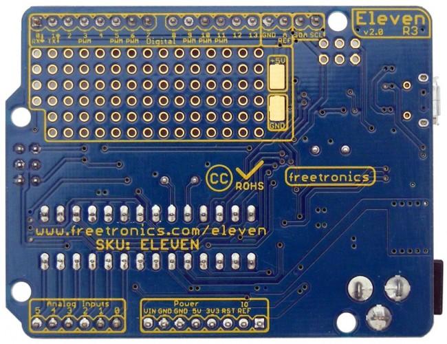 Freetronics Eleven (100% Arduino Uno Compatible) CE04486 Freetronics Australia (Image 3)