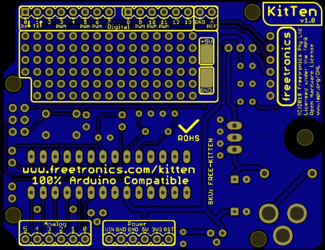 Freetronics KitTen (Arduino-compatible kit) CE04502 Freetronics Australia (Image 5)