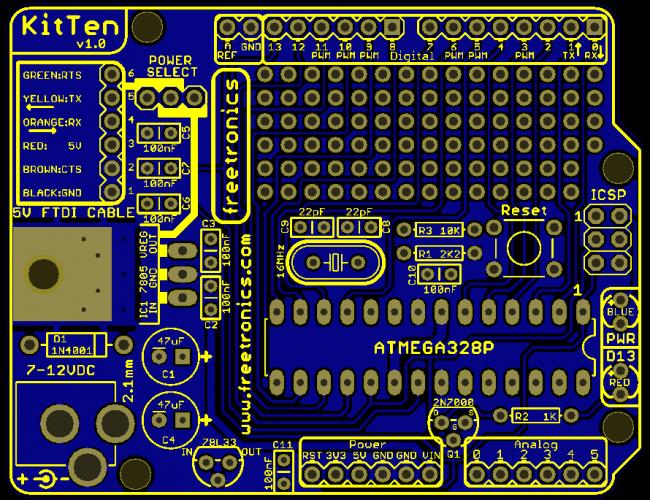 Freetronics KitTen (Arduino-compatible kit) CE04502 Freetronics Australia (Image 4)
