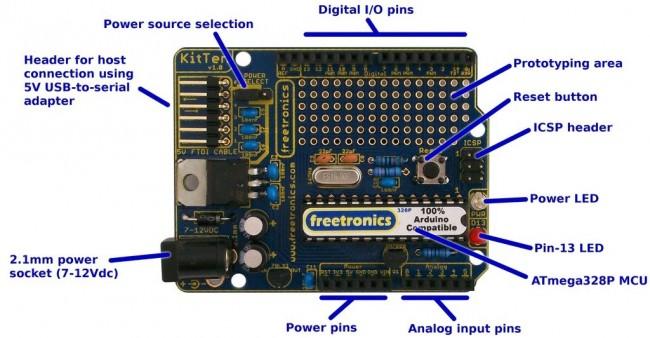 Freetronics KitTen (Arduino-compatible kit) CE04502 Freetronics Australia (Image 3)
