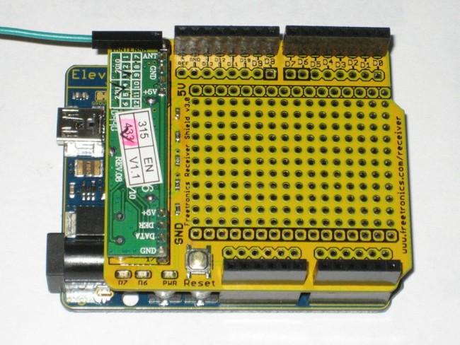 Freetronics Receiver Shield for Arduino: 315MHz / 433MHz CE04493 Freetronics Australia (Image 2)