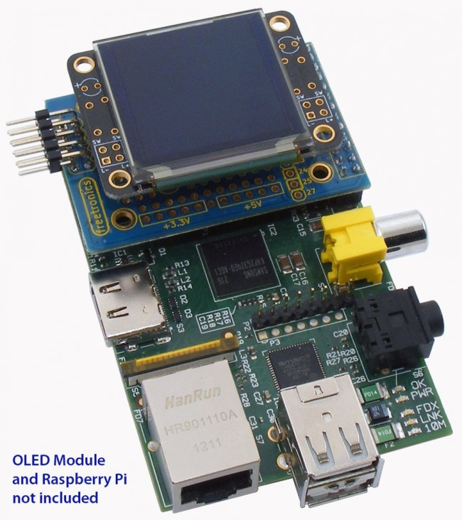 Freetronics PiScreen OLED adapter for Raspberry Pi CE04507 Freetronics Australia (Image 5)