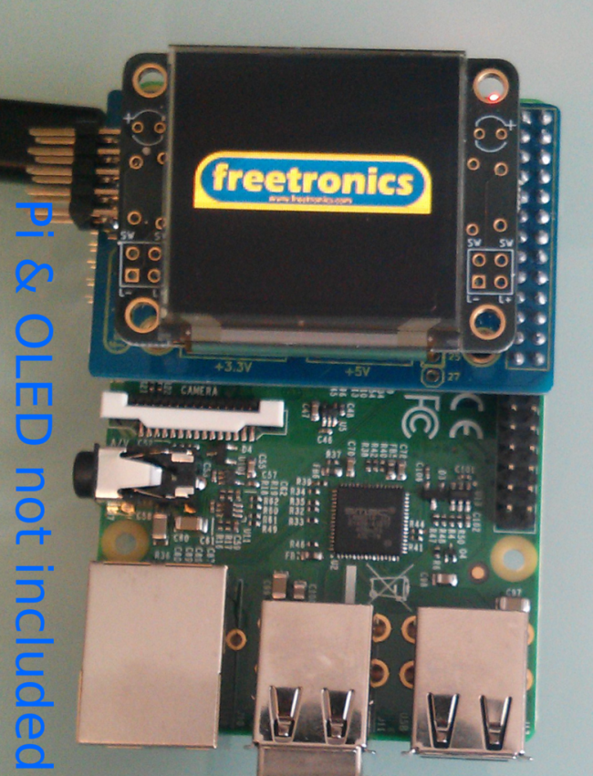 Freetronics PiScreen OLED adapter for Raspberry Pi CE04507 Freetronics Australia (Image 4)