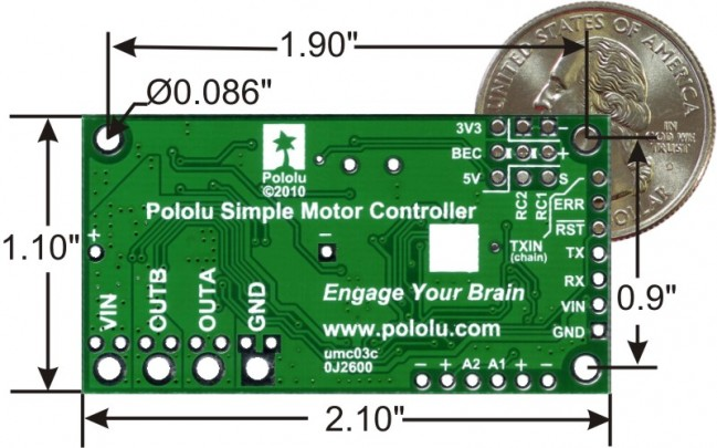 Pololu Simple High-Power Motor Controller 24v12 (Fully Assembled) POLOLU-1378 Pololu Australia - Express Delivery Australia Wide (Image 2)