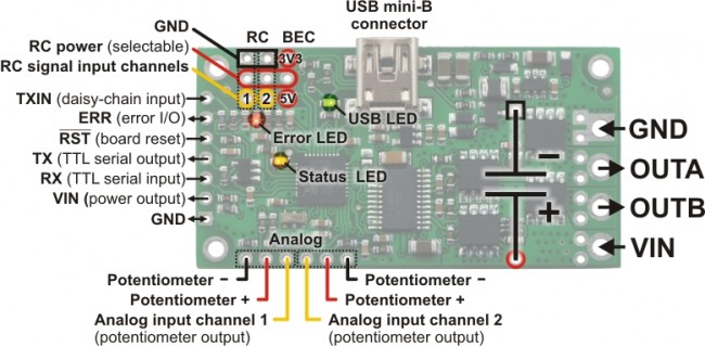 Pololu Simple Motor Controller 18v7 (Fully Assembled) POLOLU-1372 Pololu Australia - Express Delivery Australia Wide (Image 6)