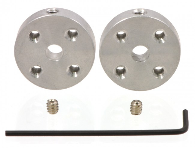 Pololu Universal Aluminum Mounting Hub for 4mm Shaft, M3 Holes (2-Pack) POLOLU-1997 Pololu Australia - Express Delivery Australia Wide (Image 1)