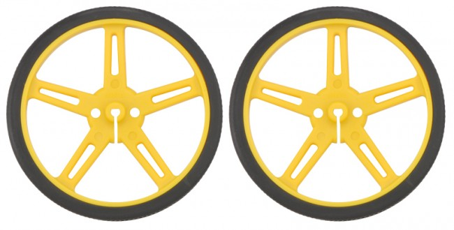 Pololu Wheel 70x8mm Pair - Yellow POLOLU-1427 Pololu Australia - Express Delivery Australia Wide (Image 1)