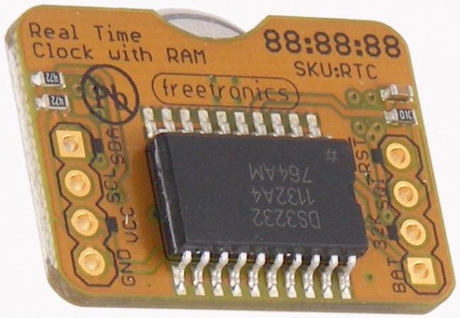 Freetronics Real Time Clock (RTC) Module CE04545 Freetronics Australia (Image 1)