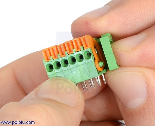 "Screwless Terminal Block: 5-Pin, 0.1"" Pitch, Side Entry (2-Pack) POLOLU-2423 Pololu Australia - Express Delivery Australia Wide (Image 3)"