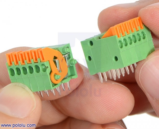 """Screwless Terminal Block: 6-Pin, 0.2"""" Pitch, Side Entry (2-Pack) POLOLU-2434 Pololu Australia - Express Delivery Australia Wide (Image 4)"""