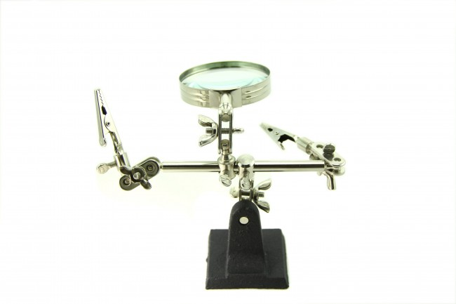 Third-hand Tool With Magnifying Glass (Seeed Studio)  SS404120002 Seeed Studio Australia (Image 2)