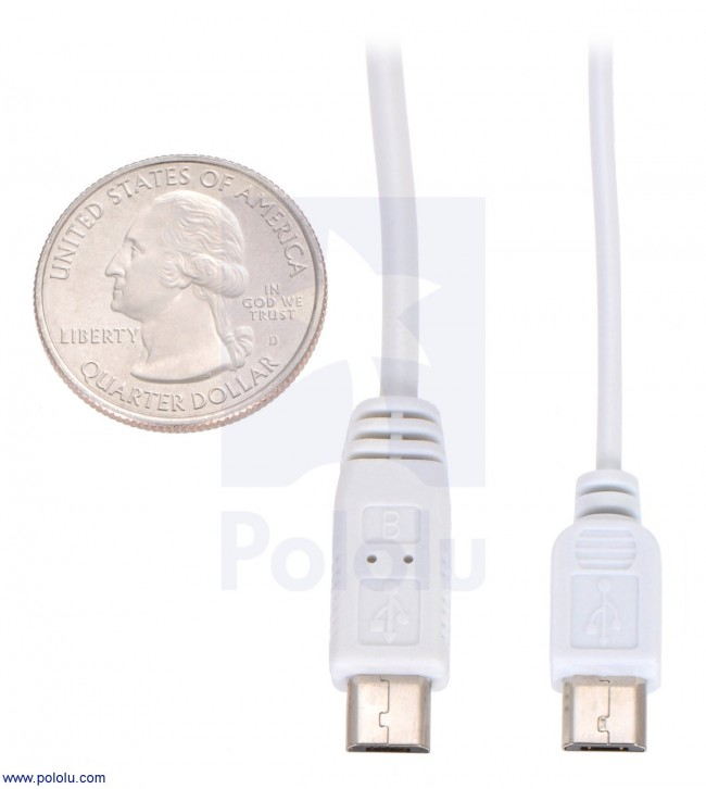 USB Cable A to Micro-B, 6 ft POLOLU-2073 Pololu Australia - Express Delivery Australia Wide (Image 2)