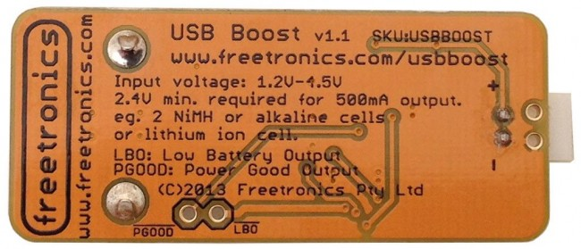Freetronics USB Boost 5V USB Power Supply CE04563 Freetronics Australia (Image 3)