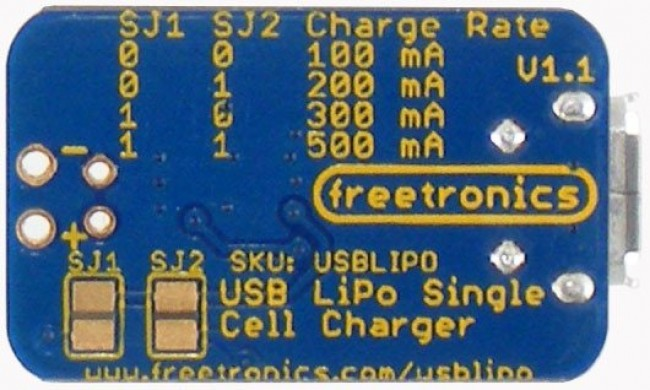 Freetronics USB LiPo Charger CE04561 Freetronics Australia (Image 3)
