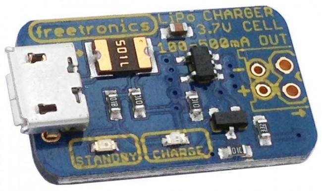 Freetronics USB LiPo Charger CE04561 Freetronics Australia (Image 1)