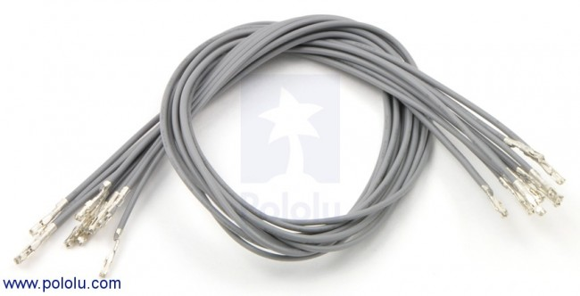 "Wires with Pre-crimped Terminals 10-Pack F-F 12"" Gray POLOLU-1848 Pololu Australia - Express Delivery Australia Wide (Image 1)"