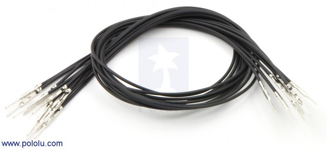 "Wires with Pre-crimped Terminals 10-Pack M-M 12"" Black POLOLU-1860 Pololu Australia - Express Delivery Australia Wide (Image 1)"