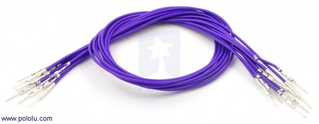"Wires with Pre-crimped Terminals 10-Pack M-M 12"" Purple POLOLU-1867 Pololu Australia - Express Delivery Australia Wide (Image 1)"