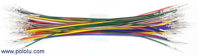 "Wires with Pre-crimped Terminals 50-Piece Rainbow Assortment M-M 6"" POLOLU-1802 Pololu Australia - Express Delivery Australia Wide (Image 1)"