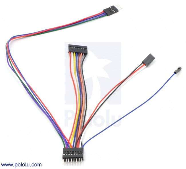 "Wires with Pre-crimped Terminals 50-Piece Rainbow Assortment M-M 6"" POLOLU-1802 Pololu in Australia - Express Delivery Australia Wide (Image 4)"
