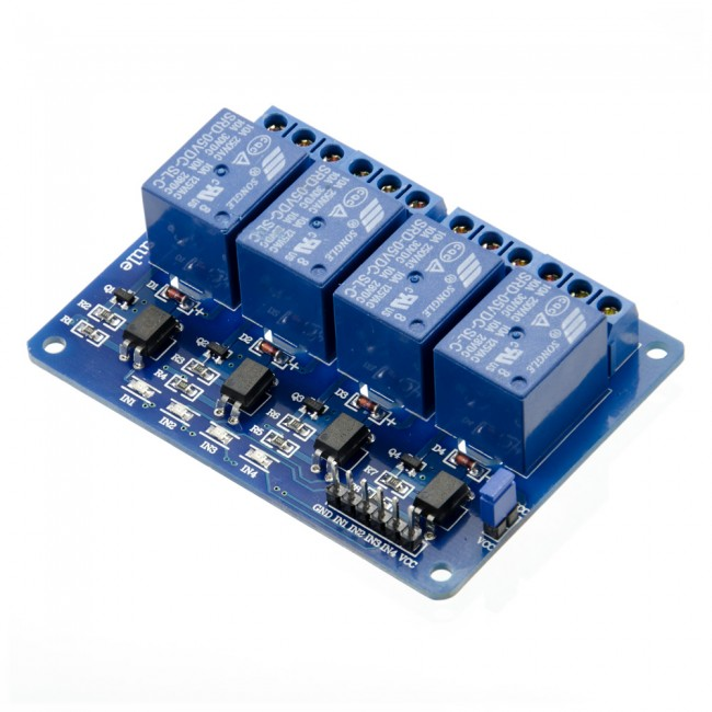 5V 4 Channel Relay Module 10A 018-QUADRELAY  (Image 2)