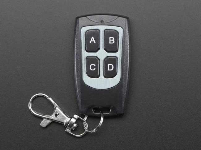Keyfob 4-Button RF Remote Control - 315MHz ADA1095 Adafruit in Australia - Express Delivery Australia Wide (Image 2)