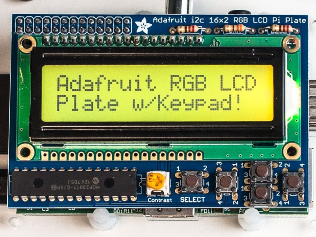 Adafruit RGB Positive 16x2 LCD+Keypad Kit for Raspberry Pi ADA1109 Adafruit in Australia - Express Delivery Australia Wide (Image 5)