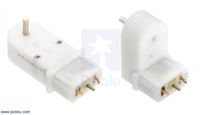 120:1 Mini Plastic Gearmotor, Offset 3mm D-Shaft Output POLOLU-1125 Pololu Australia - Express Delivery Australia Wide (Image 4)