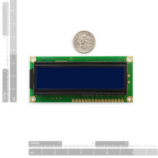1602 Character LCD White on Blue HD44780 (16X2) 017-DE-LM12111 Sure Electronics in Australia (Image 1)