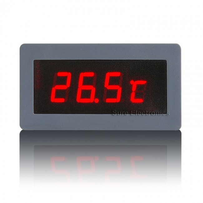 "0.56"" Digital Red LED Thermometer F/C Panel Meter Int. & Ext. (-24~125 C) (ME-SP332) 017-ME-TM31123 Sure Electronics in Australia (Feature image)"