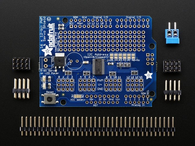 Adafruit 16-Channel 12-bit PWM/Servo Shield - I2C interface ADA1411 Adafruit in Australia - Express Delivery Australia Wide (Image 5)