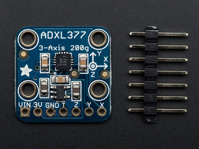 ADXL377 - High-G Triple-Axis Accelerometer (+-200g Analog Out) (ADA1413) Image 1 ADA1413 Adafruit Australia (Feature image)