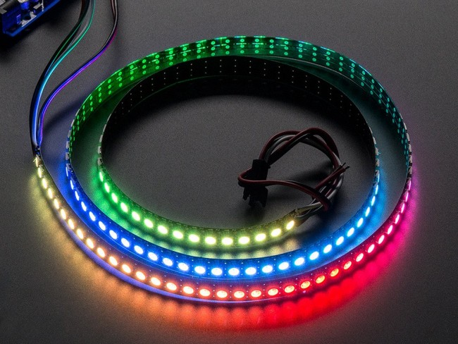 Adafruit NeoPixel Digital RGB LED Strip 144 LED - 1m Black - BLACK ADA1506 Adafruit Australia (Image 1)
