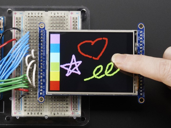2.8 TFT LCD with Touchscreen Breakout Board w/MicroSD Socket - ILI9341 ADA1770 Adafruit in Australia - Express Delivery Australia Wide (Feature image)