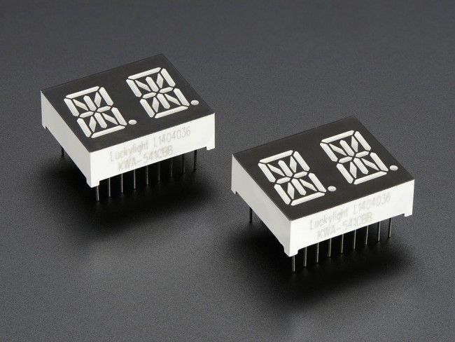 Dual Alphanumeric Display - Blue 0.54 Digit Height - Pack of 2 ADA1908 Adafruit in Australia - Express Delivery Australia Wide (Image 3)