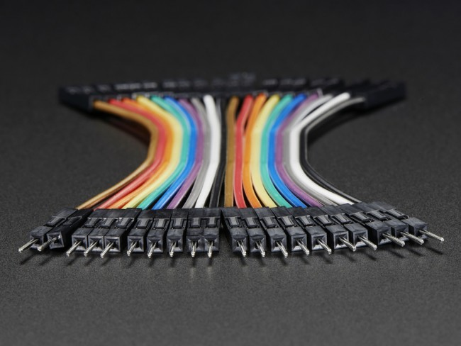 Premium Female/Male Extension Jumper Wires - 20 x 3 ADA1953 Adafruit in Australia - Express Delivery Australia Wide (Image 2)