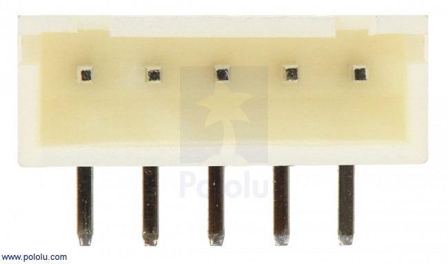 2.5 mm JST XH-Style Shrouded Male Connector: 5-Pin, Right Angle (2-Pack) POLOLU-2721 Pololu Australia - Express Delivery Australia Wide (Image 2)