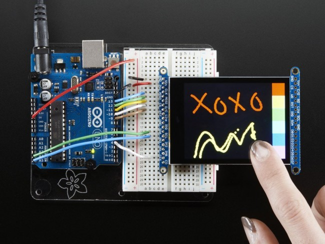 2.8 TFT LCD with Cap Touch Breakout Board w/MicroSD Socket ADA2090 Adafruit in Australia - Express Delivery Australia Wide (Feature image)