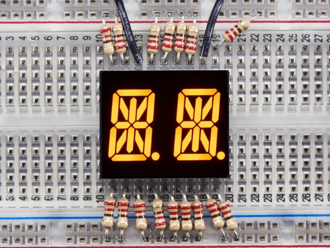 Dual Alphanumeric Display -Yellow 0.54 Digit Height - Pack of 2 ADA2154 Adafruit in Australia - Express Delivery Australia Wide (Feature image)