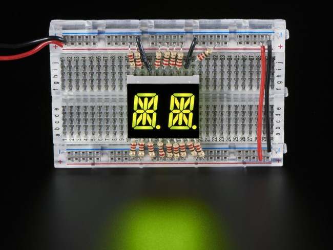 Dual Alphanumeric Display - Yellow-Green 0.54 - Pack of 2 ADA2155 Adafruit in Australia - Express Delivery Australia Wide (Image 2)