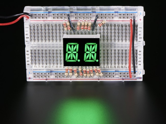 Dual Alphanumeric Display - Green 0.54 Digit Height - Pack of 2 ADA2156 Adafruit in Australia - Express Delivery Australia Wide (Image 2)