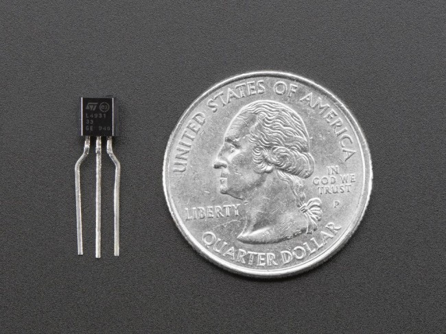 3.3V 250mA Linear Voltage Regulator - L4931-3.3 TO-92 ADA2166 Adafruit in Australia - Express Delivery Australia Wide (Image 2)