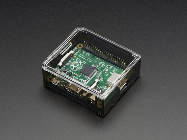 Adafruit Raspberry Pi A+ Case - Smoke Base w/ Clear Top ADA2359 Adafruit in Australia - Express Delivery Australia Wide (Feature image)