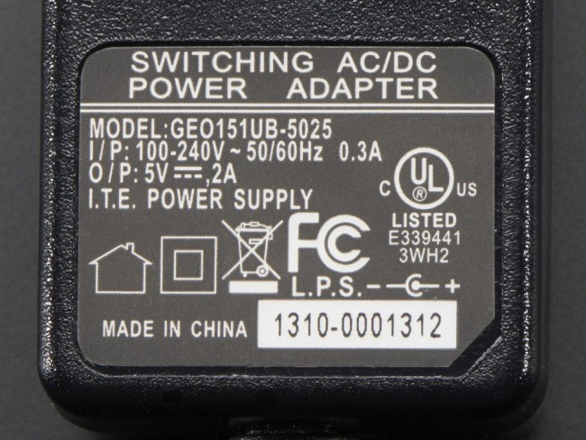 5V 2A (2000mA) switching power supply - UL Listed ADA276 Adafruit in Australia - Express Delivery Australia Wide (Image 2)