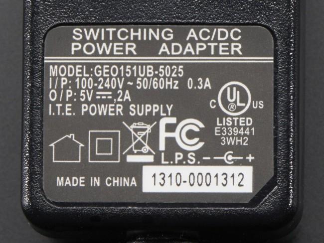 5V 2A (2000mA) switching power supply - UL Listed ADA276 Adafruit Australia (Image 2)