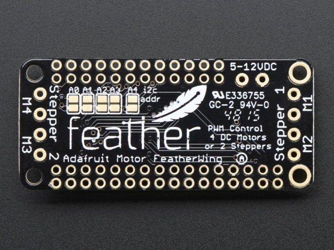 DC Motor + Stepper FeatherWing Add-on For All Feather Boards ADA2927 Adafruit in Australia - Express Delivery Australia Wide (Image 4)
