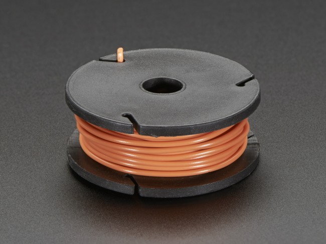 Solid-Core Wire Spool - 25ft - 22AWG - Orange ADA2986 Adafruit in Australia - Express Delivery Australia Wide (Feature image)